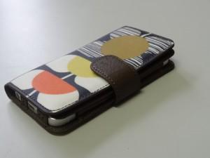 iPhone5ケース TREXTA [トレックスタ]  Oria Kiely [オーラ・カイリー]フォリオケース スクエアフラワー (18944)