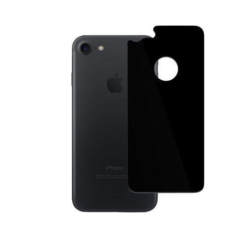 iPhone 7 背面用 ガラスフィルム グレア ブラック
