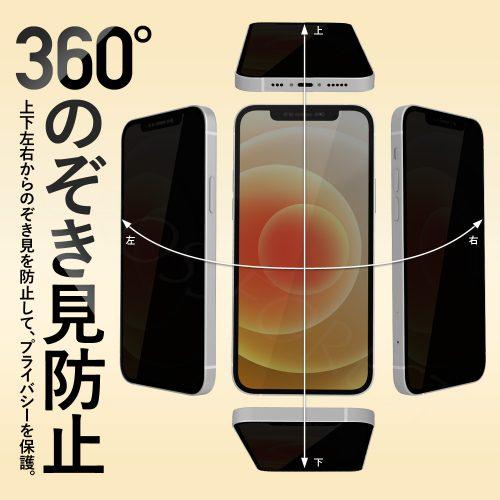 360°のぞき見防止。プライバシー保護。