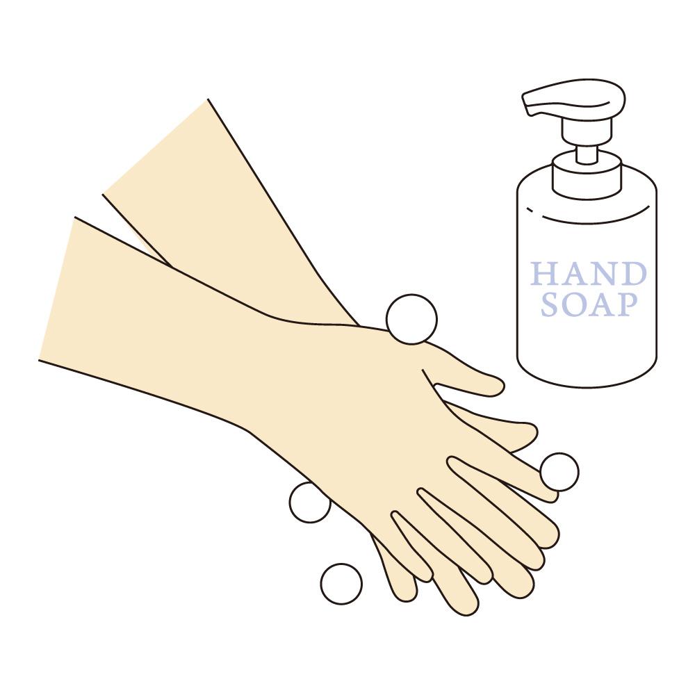 手を良く洗います